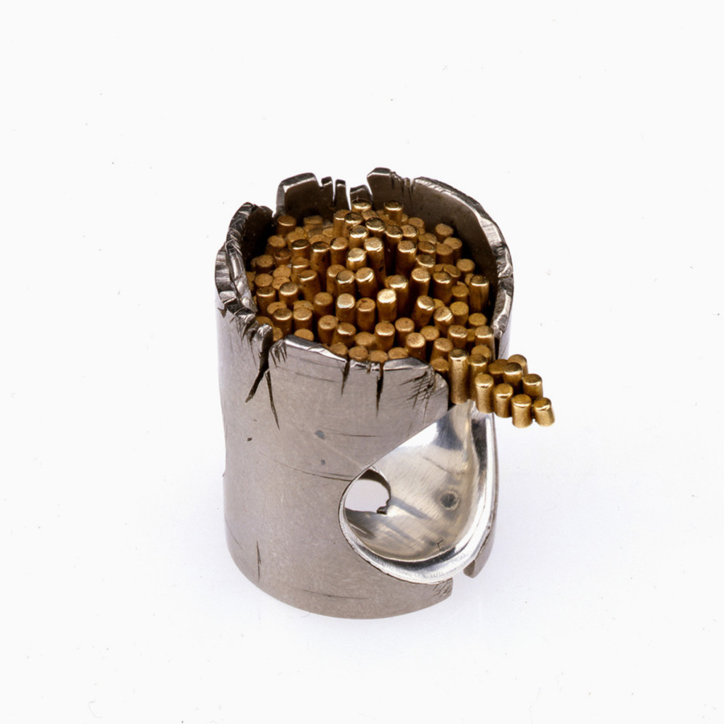 Stefano Zanini ring made of titanium and gold